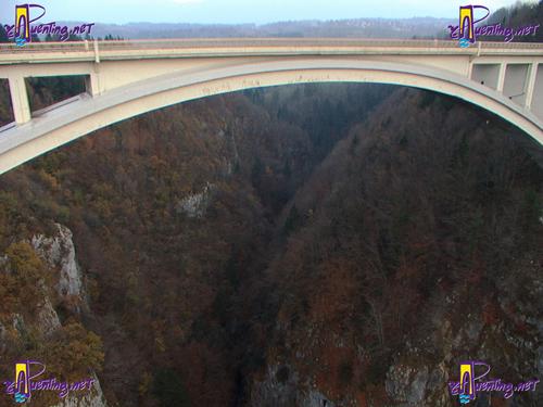 Puente de Caquot desde el puente de Charles-Albert
