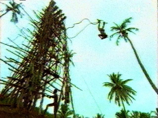 salto ritual en Bunlap, Vanuatu